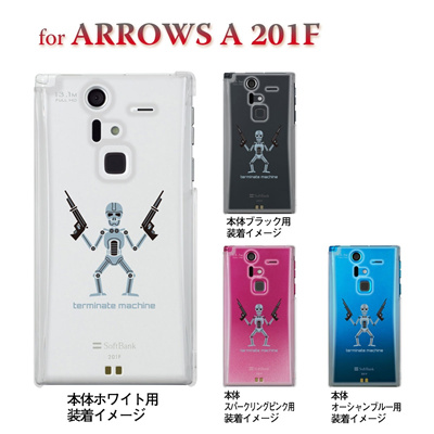 【ARROWS ケース】【201F】【Soft Bank】【カバー】【スマホケース】【クリアケース】【ユニーク】【MOVIE PARODY】【海賊】 10-201f-ca0029の画像