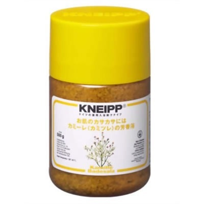 クナイプ KNEIPP バスソルト カミーレ 500gクナイプ/KNEIPP/バスソルト/芳香浴/入浴剤/岩塩/精油/ハーブ/カミーレ/カミツレ/500gの画像
