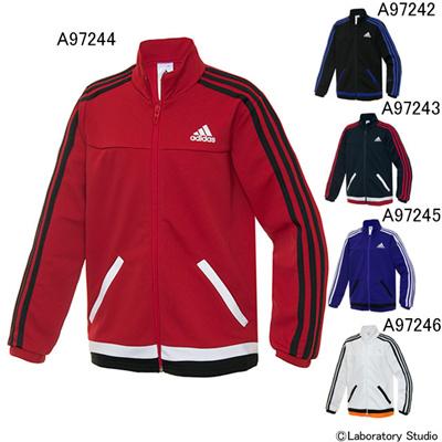 アディダス (adidas) KIDS 強ジャー ジャージ ジャケット KBY23 [分類:ジャージ 上 (ジュニア)] 送料無料の画像