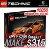 [SUPER!! MAKE $315!!] LEGO Technic Porsche 911 GT3 RS Toys/ 911 GT3 RS 42056