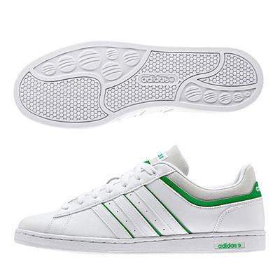 アディダス (adidas) DRB SET(ランニングホワイト×ランニングホワイト×グリーン) F98469 [分類:メンズファッション スニーカー ローカット] 送料無料の画像