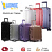 ★Ready stock★Free Gifts★Hard Shell 8 Wheel Spinner Polycarbonate Zipper Aluminium Frame Luggage Trolley Case 20/24/28 inch with TSA lock Red/Navy/Silver/Black/Rose Gold/Purple