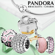 [PANDORA]★100% Authentic★Pandora Bracelets / Charm Series/ Silver Charm Bracelet/ Jewelry/ Fashion Accessories/ Customize your own design/ from USA[Free Shipping]