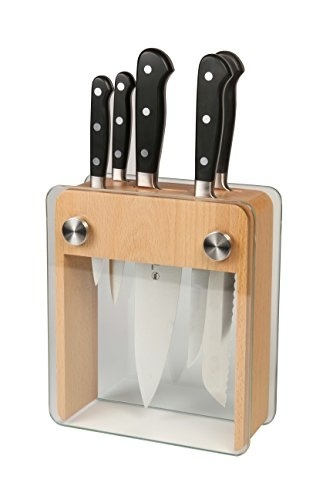 Qoo10 mercer culinary block set wood block with for Qoo10 kitchen set