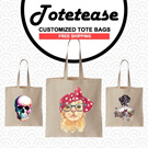 ★NEW DESIGNS WHITE TOTES COLLECTION by TOTETEASE★ 100% Cotton/Customize/Tote Bag/Canvas Totebag/Shoulder Bag/Recycle Bag/