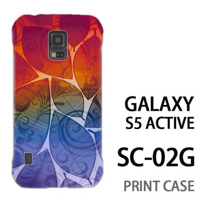 GALAXY S5 Active SC-02G 用『0116 舞い散る葉 レインボー』特殊印刷ケース【 galaxy s5 active SC-02G sc02g SC02G galaxys5 ギャラクシー ギャラクシーs5 アクティブ docomo ケース プリント カバー スマホケース スマホカバー】の画像