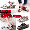 [Mickey Mouse]★韓国産★サンダル ミッキーマウスディズニー本物の女性のサンダルの靴 100% Mickey Mouse Official Licensed Disney