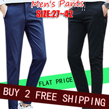 2017 New Fashion mens Slim pants/Casual pants/Jeans pants/