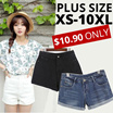 JESSCLOSET -Denim Shorts Comes In Plus Size Up To 10XL Many designs!