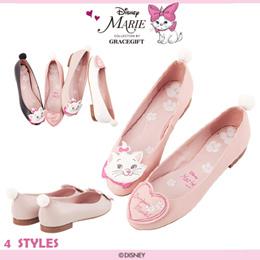 ♥New Arrival♥Gracegift-Disney Marie Pompom Embroidered Ballet Flats/Women Shoes