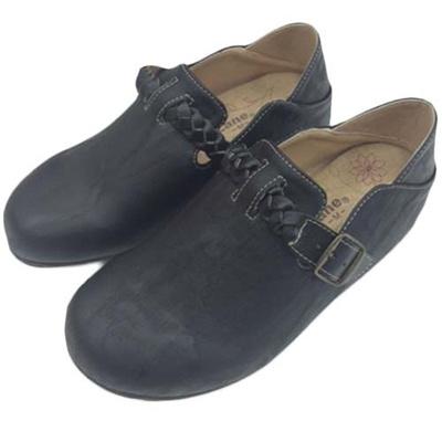 ペニーレイン(PENNY LANE) レディース サンダル サボ ヘップ ブラック 1305 【靴 シューズ スリッポン コンフォート】の画像