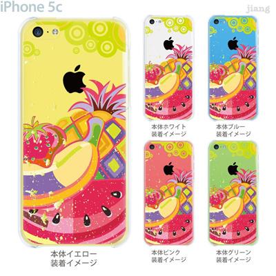 【iPhone5c】【iPhone5cケース】【iPhone5cカバー】【iPhone ケース】【クリア カバー】【スマホケース】【クリアケース】【イラスト】【クリアーアーツ】【フルーツ】 21-ip5c-ca0002の画像