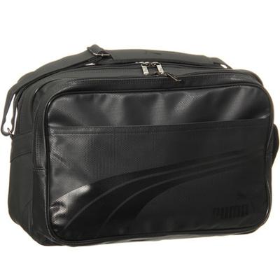 プーマ(PUMA) エナメル マット A ショルダー Lサイズ 073293 (01)ブラック/ブラック 【バッグ 鞄 カバン エナメルバッグ風】の画像