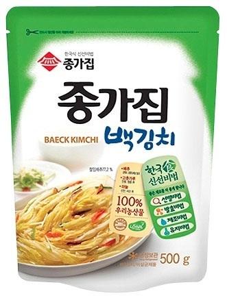 【韓国食品・韓国キムチ】 ■韓国本場の宗家白【ペク】キムチ(白菜)500g■の画像