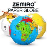 ★ZEMIRO Paper Globe★World of Animals/Coloring Globe/Plan Map/Mantle/Upper Mantle/Language English/Country names/Kids/DIY/education/Baby/Interior/b2c_085
