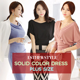 [Esther Style Made in Korea] Gorgeous  Solid Color Dresses /S~L / Made By Esther Style / Perfect Workmanship / Premium dress / blouse / shirts