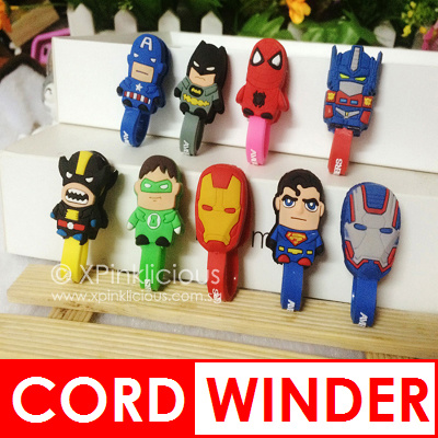 Cord Winder/Earphone Tie/Wire Organizer/USB Cable winder/wire/earphone Holder/Headphone binder Deals for only S$3.9 instead of S$0