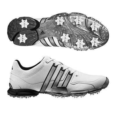 アディダス (adidas) Powerband Tour WD(パワーバンドツアーWD) ホワイト×ブラック×ホワイト Q44559 [分類:ゴルフシューズ スパイク (メンズ)] 送料無料の画像