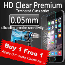 💋Bye 1 Free 1💋Tempered Glass For Phone 6 6S 5 5S 7 PLUS Samsung Note 2 3 4 5 xiaomi ipad Asus /SG
