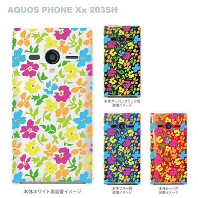 【AQUOS PHONEケース】【203SH】【Soft Bank】【カバー】【スマホケース】【クリアケース】【フラワー】 22-203sh-ca0010の画像