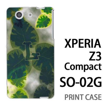 XPERIA Z3 Compact SO-02G 用『No1 L 葉っぱ』特殊印刷ケース【 xperia z3 compact so-02g so02g SO02G xperiaz3 エクスペリア エクスペリアz3 コンパクト docomo ケース プリント カバー スマホケース スマホカバー】の画像
