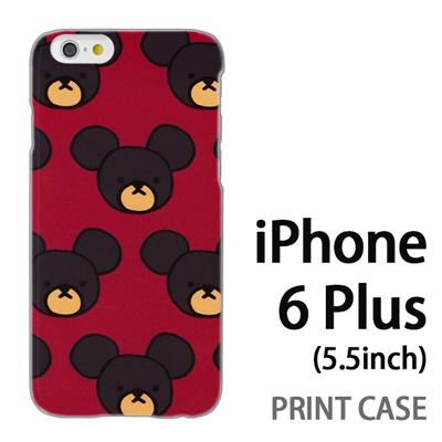 iPhone6 Plus (5.5インチ) 用『0903 熊さんドット 赤』特殊印刷ケース【 iphone6 plus iphone アイフォン アイフォン6 プラス au docomo softbank Apple ケース プリント カバー スマホケース スマホカバー 】の画像