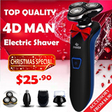 [CHRISTMAS SPECIAL] Men's Wet and Dry Electric Shaver / Nose Beard Hair Trimmer Face Brush / Water Proof / Easy Cleaning / Cordless / All Degree Shaving / CHRISTMAS GIFT