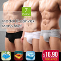 Modal U-convex Mens Brief / Breathable and Soft Material Underwear/ The Man Health Essential Choice! Regain Passion !