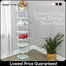 Sleek Design Shoe Rack 678 tier (3 Colors) / Space Saving Entryway Hallway Storage Shelf