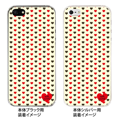 【iPhone5S】【iPhone5】【Clear Fashion】【iPhone5ケース】【カバー】【スマホケース】【クリアケース】【with LOVE】 ip5-09-wl0003の画像