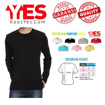 Buy Kaos Polos O-Neck Lengan Panjang UNISEX Deals for only Rp55.000