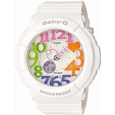 Baby-GベビージーNeonDialSeriesネオンダイアルシリーズBGA-131-7B3JFレディースカラフルなインデックスを取り入れた華やかなBaby-G登場