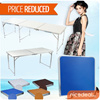 [New Stock Arrival]180 x 60 / 120 x 60 / 70 x 50 Portable Foldable Aluminium Table/ wooden table – Lightweight  Comes with Carrying Handle. Several Colors Available!