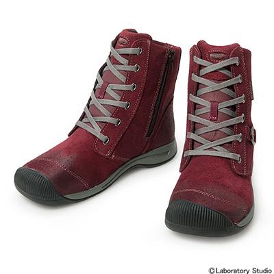 キーン (KEEN) WOMEN Reisen Zip WP(ウィメン レイゼン ジップ ウォータープルーフ)Zinfandel 1013765 [分類:アウトドア ブーツ・長靴 (レディース)] 送料無料の画像