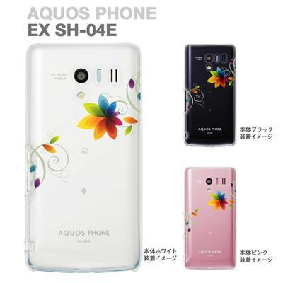 【AQUOS PHONE EX SH-04E】【IGZO】【イグゾー】【ケース】【カバー】【スマホケース】【クリアケース】【フラワー】 22-sh04e-ca0030の画像