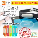 100% Original♥Xiaomi Mi Band Bracelet Wristbands XiaoMI Band ☆ Water Resistant IP67 ☆ Miband Fitness Band Sleep Tracker Android  Smart Watch Band MI LED Fitbit flex Garmin Jawbone Gear Fit
