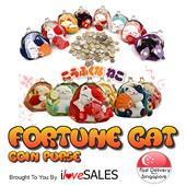Fortune Cat Coin Purse - Maneki Neko - Lucky Cat / Christmas Gift [NG]
