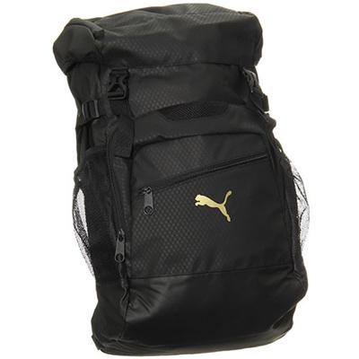 プーマ(PUMA) J プレミアムバックパック 073299 (01)ブラック/ブラック/チーム ゴールド 【バッグ 鞄 カバン リュックサック】の画像