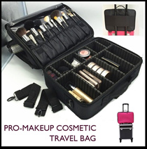 Pro Makeup Bag Cosmetics Compartment Traveling Pouch Waterproof / Travel Luggage Storage Organizer