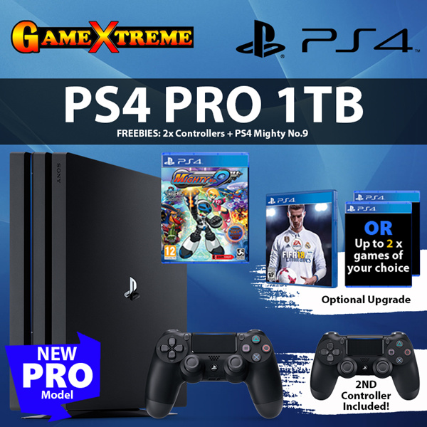 ?PS4 PRO 1TB PROMO? FREE 2nd Dualshock Controller n 1 x PS4 Game! Optional Upgrade to Premium Title Deals for only S$679 instead of S$0