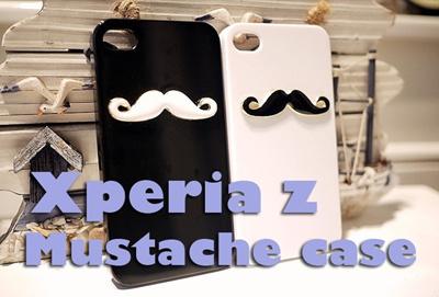 【Xperia Z SO-02E】 Xperia Z SO-02E ひげ髭デコケース ブランド キャラクター ハードケース【メール便送料無料】の画像