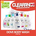 [DOVE] Body Wash 1000ml Cool/Energize/Revive/Fresh Touch/Beauty Nourishing/Sensitive/Exfoliating/Renew/Regenerate/Rebalance