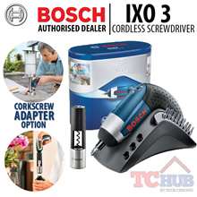 Bosch IXO 3 Cordless Screwdriver. World Smallest Screwdriver with magnetic bit holder. 3.6 V Li-ion