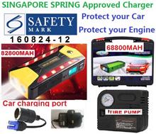 3 DAYS PROMOTION 82800mAh 68800mAh 89800 4USB Car Jump Starter Emergency Charger  Power Bank