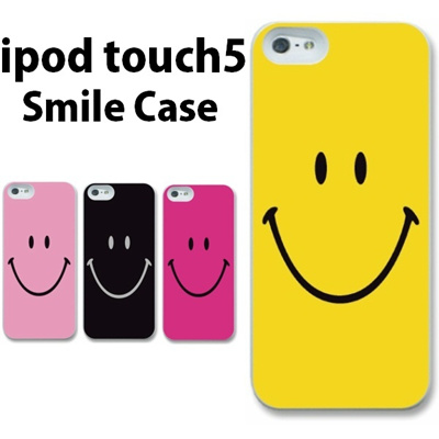 特殊印刷/iPodtouch5(第5世代)iPodtouch6(第6世代) 【アイポッドタッチ アイポッド ipod ハードケース カバー ケース】(スマイリー)CCC-015の画像