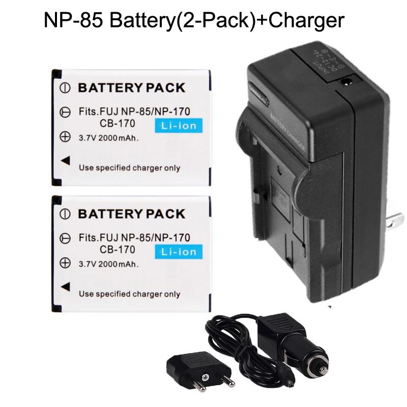 【クリックで詳細表示】NP-85 NP85 Camera Battery+Charger For Fujifilm FinePix SL240 SL260 SL280 SL300 SL305 SL1000 S1 Free Ship