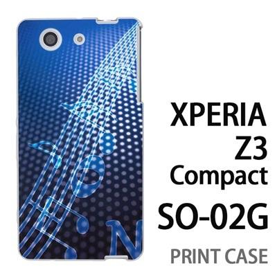 XPERIA Z3 Compact SO-02G 用『No1 N 青の中の音符』特殊印刷ケース【 xperia z3 compact so-02g so02g SO02G xperiaz3 エクスペリア エクスペリアz3 コンパクト docomo ケース プリント カバー スマホケース スマホカバー】の画像