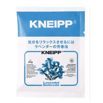 クナイプ KNEIPP バスソルト ラベンダー 40gクナイプ/KNEIPP/バスソルト/芳香浴/入浴剤/岩塩/精油/ハーブ/ラベンダー/40gの画像