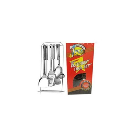 Qoo10 7pc stainless steel kitchen cooking utensil set for Qoo10 kitchen set