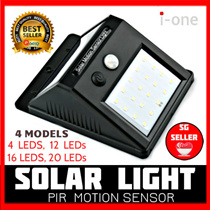 Solar Power LED Lamp PIR Motion Sensor Outdoor Wall Light Solar Lamp Waterproof Garden Sg Seller